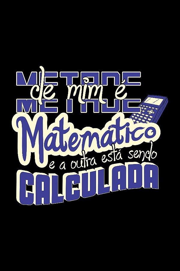 Camisa Universitária Matemática - 2+2 - Preta - Basic