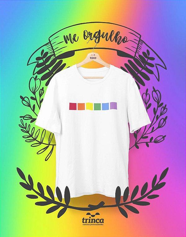 Camiseta Personalizada - Minhas Cores - Me Orgulho - Basic