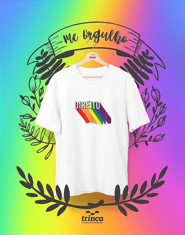 Camiseta Universitária - Pride Direito - Me Orgulho - Basic