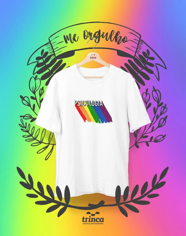 Camiseta Personalizada - Pride Psicologia - Me Orgulho - Basic