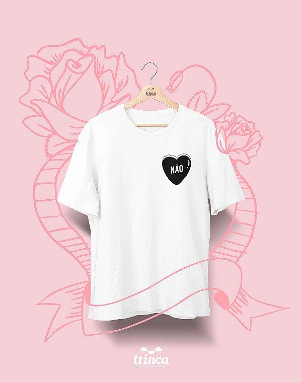 Camiseta Personalizada - Dia do Amor - Aqui Não - Basic