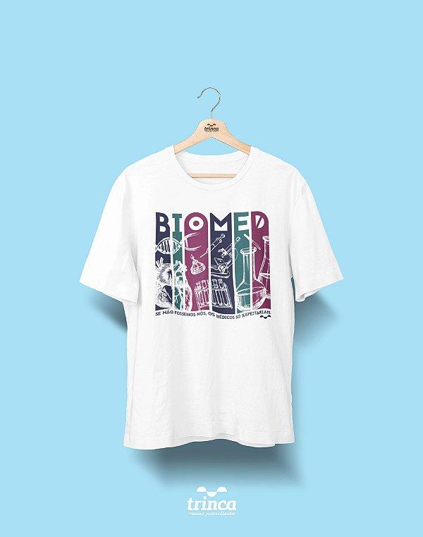 Camisa Universitária Biomedicina - E aí, como seria? - Basic