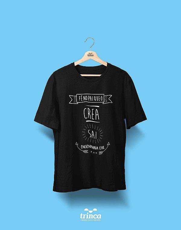 Camisa Universitária Engenharia Civil - Haja fé! - Basic