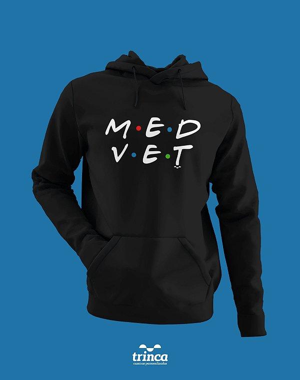 Moletom Canguru (Flanelado) - Medicina Veterinária - Friends