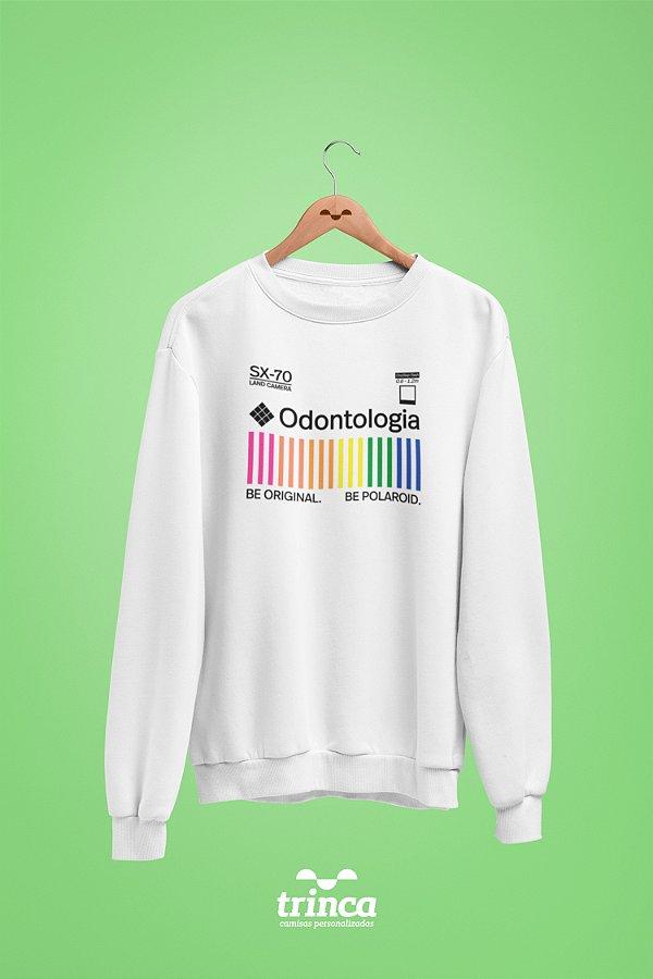 Moletom Básica (Flanelado) - Coleção Polaroid - Odontologia