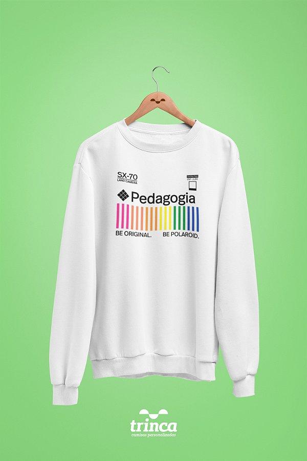 Moletom Básica (Flanelado) - Coleção Polaroid - Pedagogia