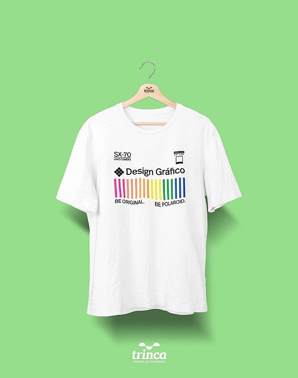 Camiseta Universitária - Design Gráfico - Polaroid - Basic