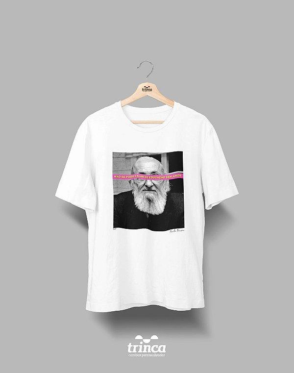 Camiseta - Coleção Imortais - Paulo Freire - Basic