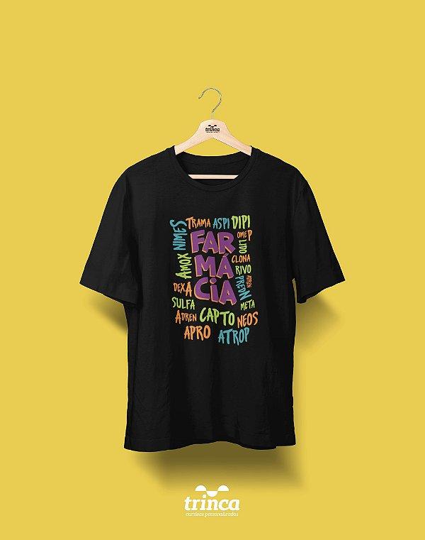 Camisa Universitária Farmácia - Receita - Basic