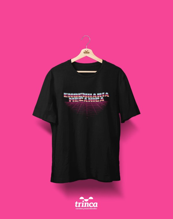 Camiseta Personalizada - 80's - Engenharia Mecânica - Basic