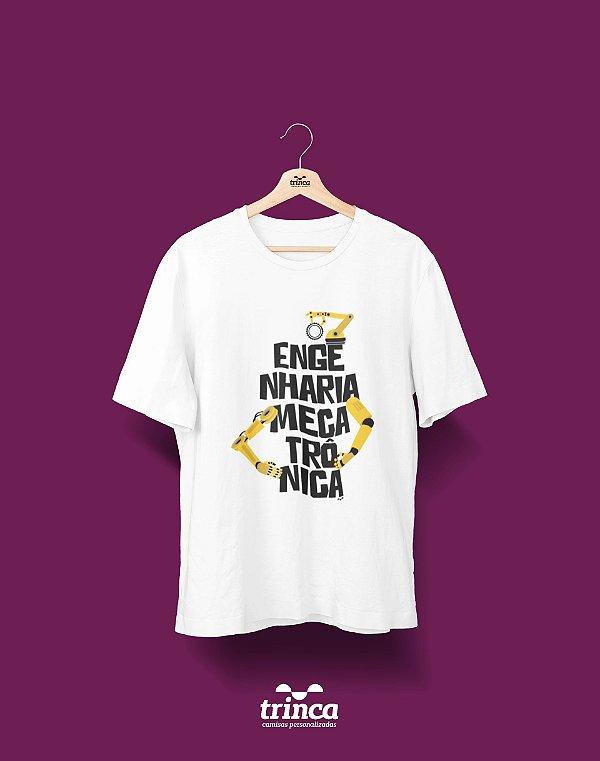 Camisa Universitária Engenharia Mecatrônica - Mão da automação - Basic