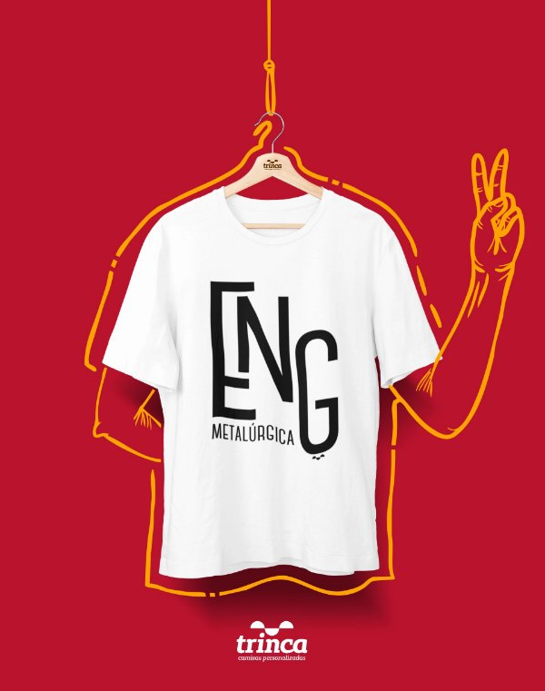 Camiseta Personalizada - Minimal - Engenharia Metalúrgica - Basic