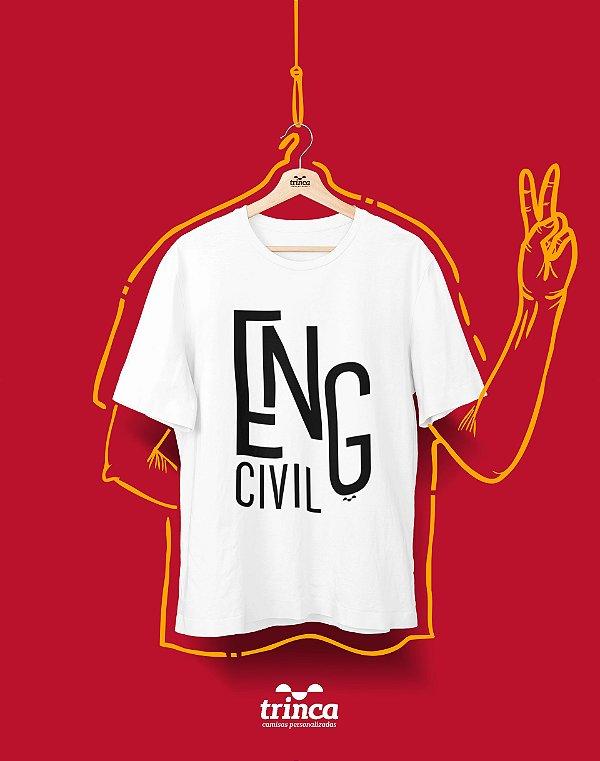 Camiseta Personalizada - Minimal - Engenharia Civil - Basic