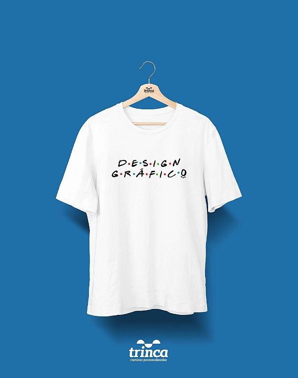 Camisa Universitária Design Gráfico - Friends - Basic