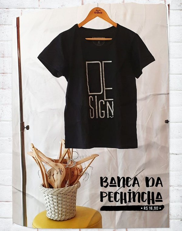 Camiseta Universitária - Design Gráfico - Minimal - Basic