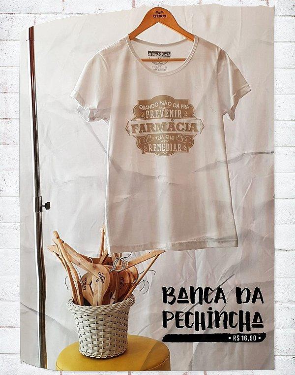 Camiseta Universitária - Farmácia - Botica - Basic