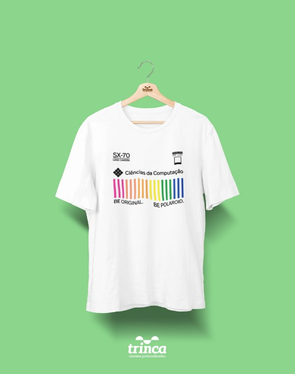 Camiseta Universitária - Ciência da Computação - Polaroid - Basic