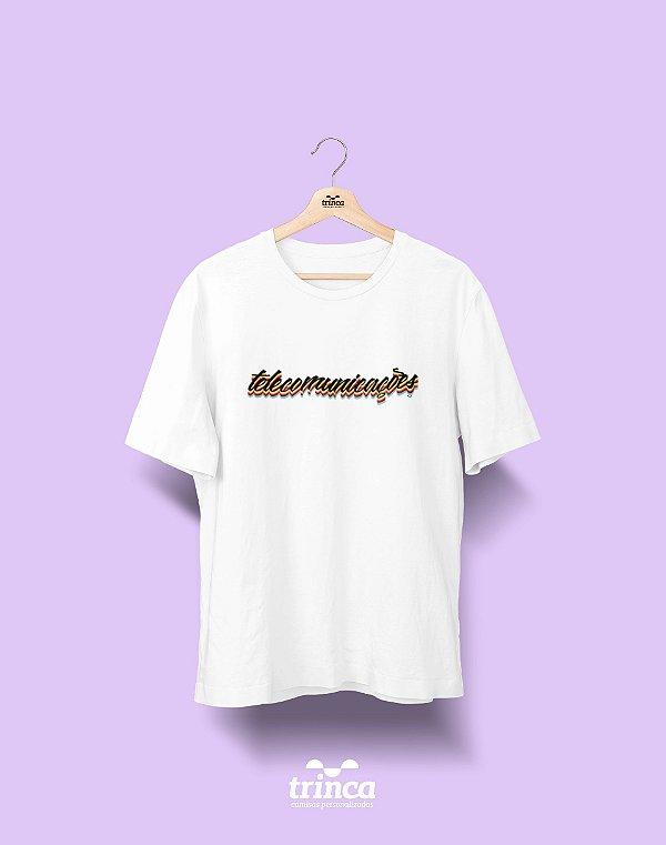 Camiseta Universitária - Telecomunicações - Grafite - Basic