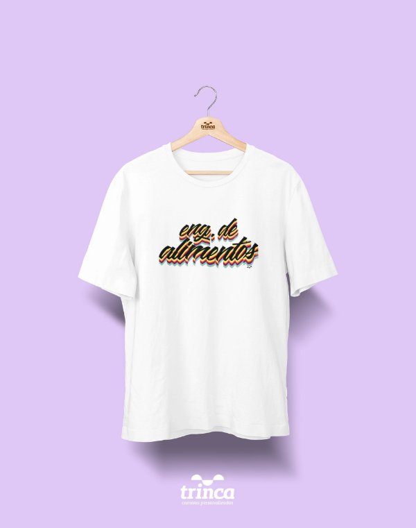 Camiseta Universitária - Engenharia de Alimentos - Grafite - Basic