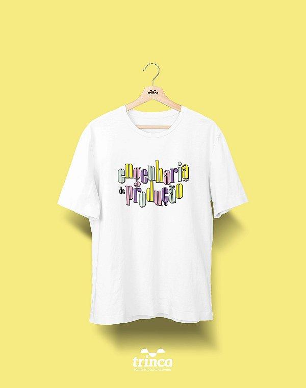 Camiseta Universitária - Engenharia de Produção - 90's - Basic