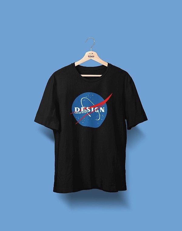 Camiseta Universitária - Design Gráfico - Nasa - Basic