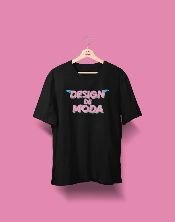 Camiseta Universitária - Design de Moda - Voe Alto - Basic