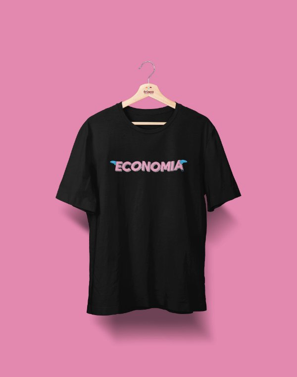 Camiseta Universitária - Economia - Voe Alto - Basic