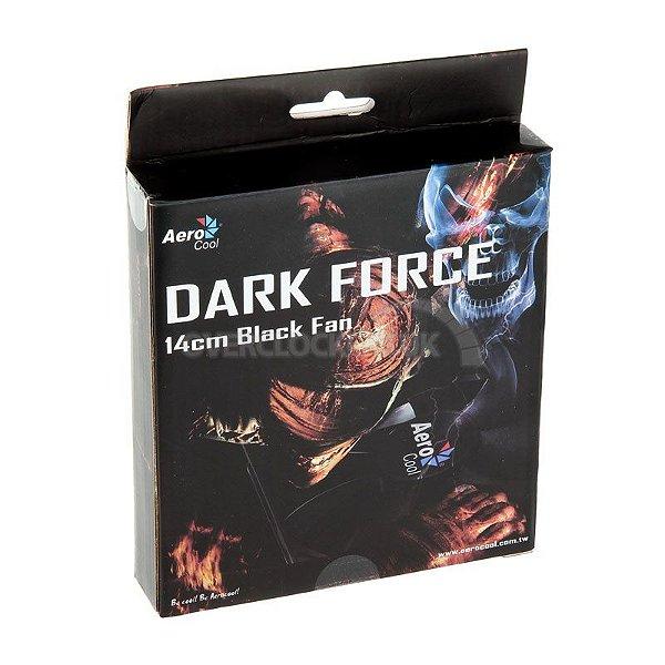 Dark force fan 14 cm black fan