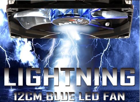 Cooler Fan 12cm Blue LED Azul Aerocool