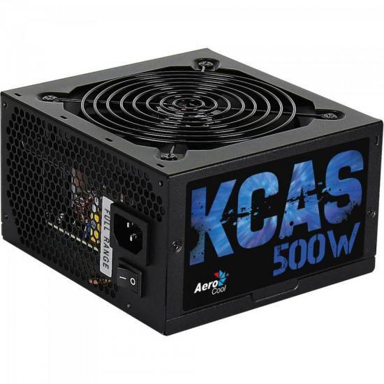 Fonte Aerocool 500W 80 Plus Bronze KCAS-500W
