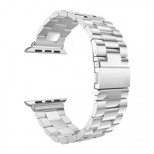 Pulseira para Apple Watch em Aço Inoxidável Prata 42/44mm