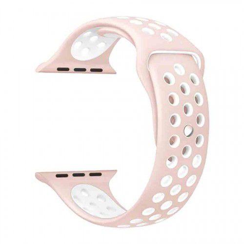 Pulseira para Apple Watch Sport em Silicone Rose