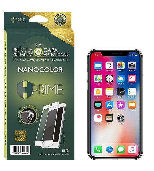 Película Premium HPrime Apple IPhone - Kit NanoColor (Acompanha Capa Protetora)