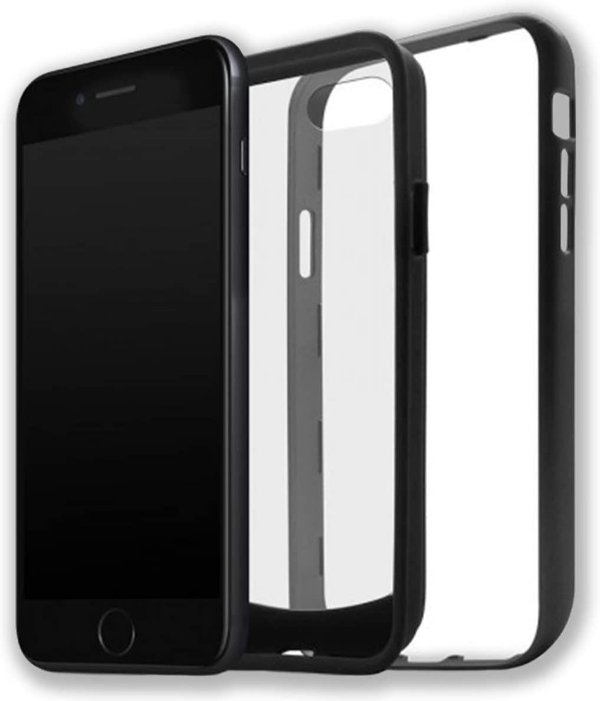 Case Duall Clear para iPhone 7/8 Plus Preta