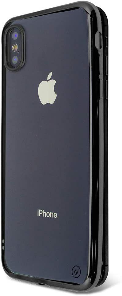 Metallic Shell para iPhone X e XS Preta - Capa Protetora com Bordas Metalizadas