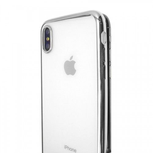 Capa Iphone X/XS Metalic Shell Prata Iwill