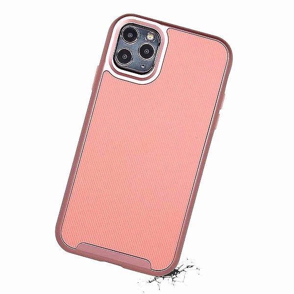 Duall Frame para iPhone 11 Pro Rosa - Capa Antichoque Dupla
