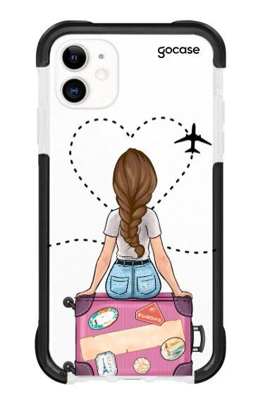 Capinha Antishock Black - Garota Viagem - iPhone 11