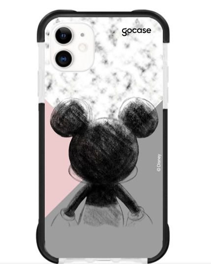 CAPINHA ANTISHOCK BLACK - MICKEY TRICOLOR - PARA PHONE 11