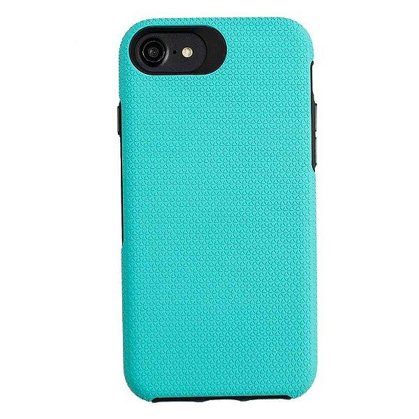 Double Case para iPhone 7 / 8 / SE Verde Água - Capa Antichoque Dupla