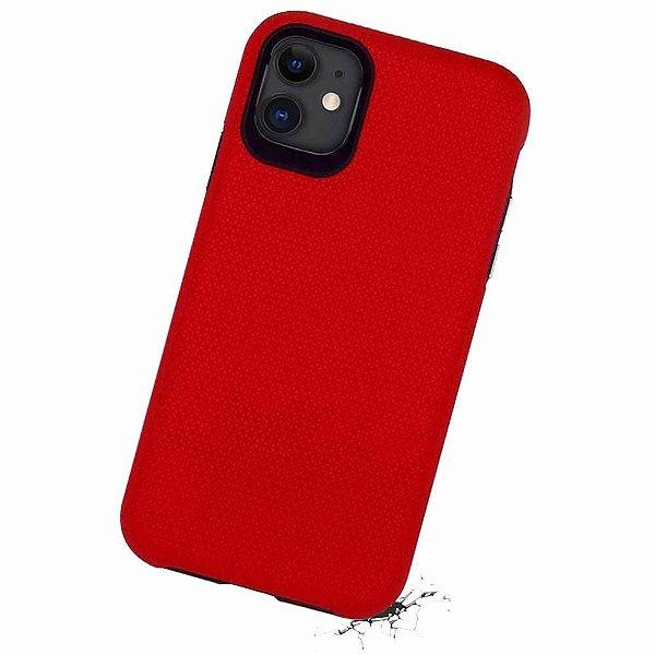 Double Case para iPhone 11 Vermelha - Capa Antichoque Dupla
