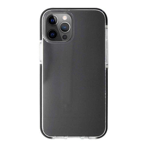 Impact Case para iPhone 12 / 12 Pro Transparente com Branco - Capa Antichoque Dupla