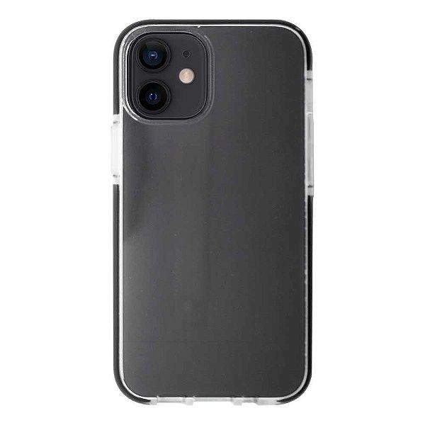 Impact Case para iPhone 12 Mini Transparente com Preto - Capa Antichoque