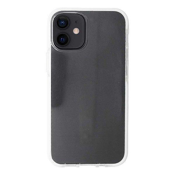 Impact Case para iPhone 12 Mini Transparente com Branco - Capa Antichoque