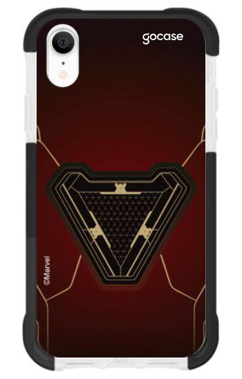 Capinha Antishock Black - Coração Stark - iPhone XR