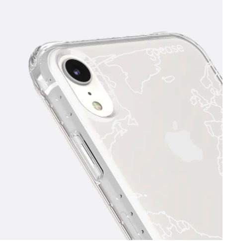 CAPINHA IMPACT SLIM STANDARD - MAPA MUNDI LINES WHITE - PARA IPHONE XR