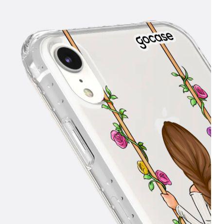 Capinha Impact Slim - Garota Floral - iPhone XR