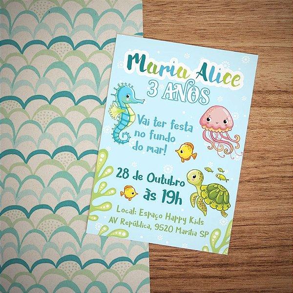 Convite Infantil Fundo Do Mar Bruno Rubira Graphicworks