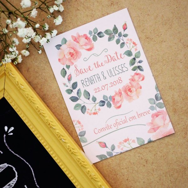 Save the Date Magnético Floral