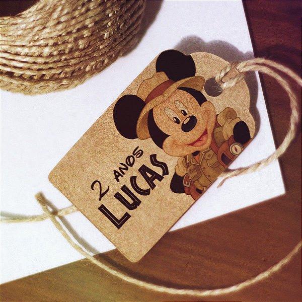 Tag Infantil Mickey Safari Personalizada